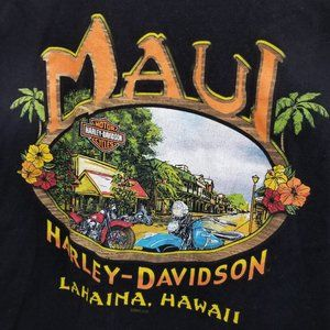 Harley Davidson Graphic T-Shirt Lahaina Hawaii